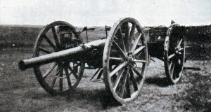 One of the 15 pounder field guns rescued by Captain Schofield's party at the Battle of Colenso on 15th December 1899