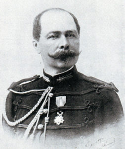 General le Comte de Villebois-Mareuil, the retired French general said to have planned the Boer defences at the Battle of Colenso on 15th December 1899