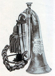 Bugle presented to John Dunne by Queen Victoria