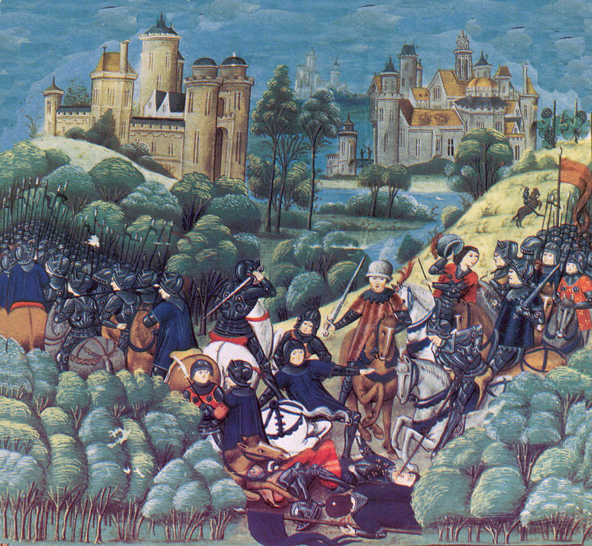 Battle of Mortimer's Cross on 3rd February 1461 in the Wars of the Roses