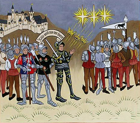 'Triple Sun' at the Battle of Mortimer's Cross on 3rd February 1461 in the Wars of the Roses