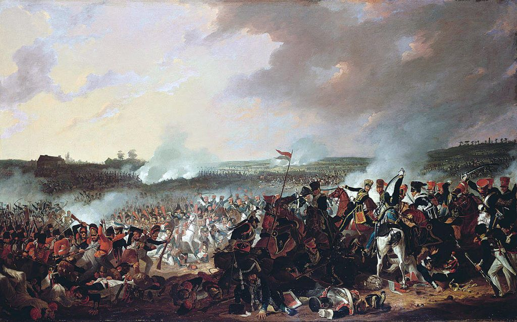 Battle of Waterloo on 18th June 1815: picture by Denis Dighton