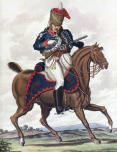 15th Light Dragoons (Hussars): Battle of Waterloo 18th June 1815: picture by Charles Hamilton Smith
