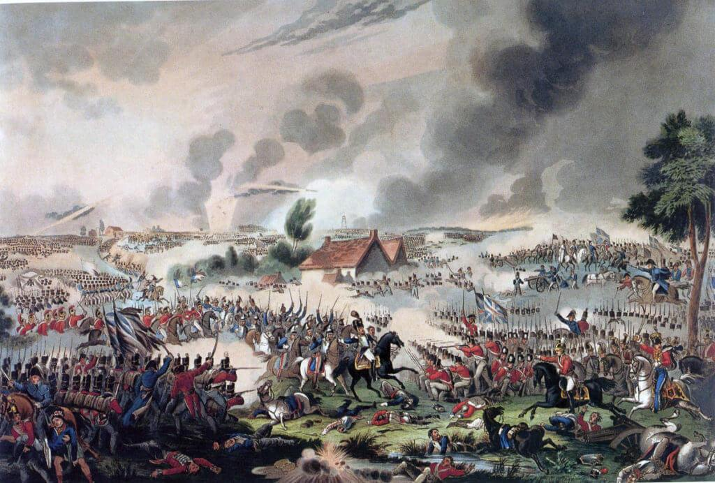 Battle of Waterloo on 18th June 1815: picture by William Heath