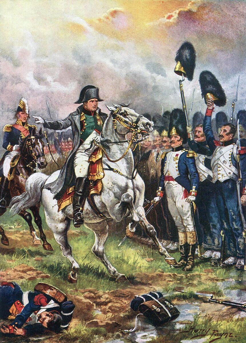 Emperor Napoleon and his Imperial Guard at the Battle of Waterloo on 18th June 1815: picture by Harry Payne