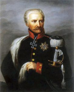 Field Marshal Blucher, Prussian commander at the Battle of Waterloo on 18th June 1815: picture by Gebauer
