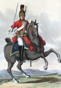 King's Dragoon Guards: Battle of Waterloo 18th June 1815: picture by Charles Hamilton Smith