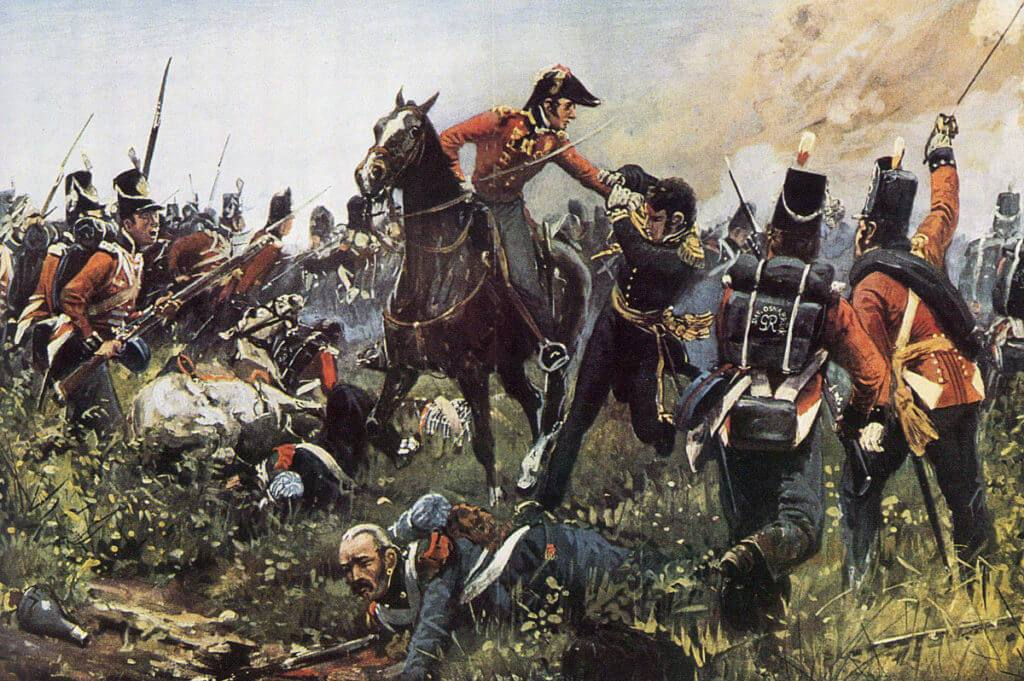 Capture of Count Cambronne by Colonel Hew Halkett at the Battle of Waterloo on 18th June 1815