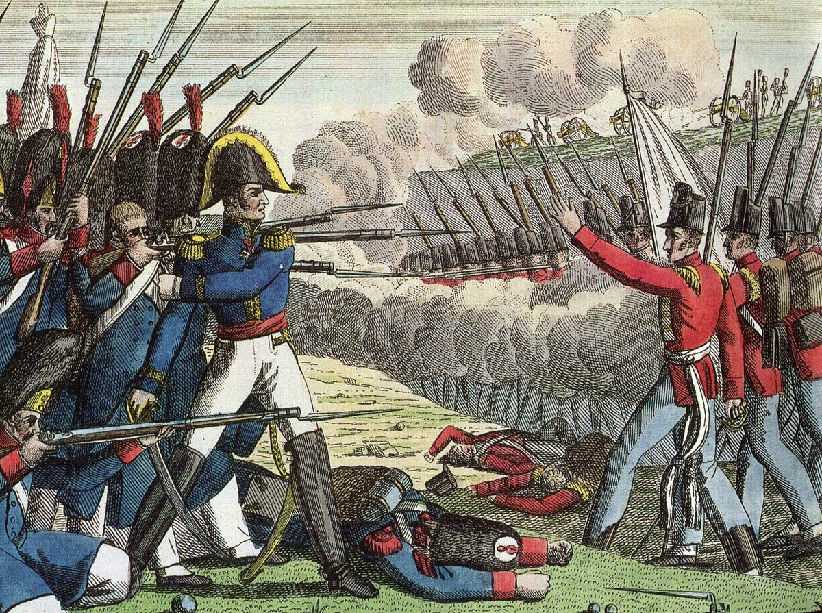 French image of the Battle of Waterloo on 18th June 1815