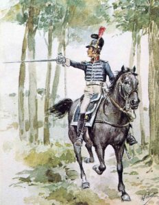 Portuguese Cavalry Officer: Battle of Campo Maior on 25th March 1811 in the Peninsular War