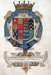 Arms of the Earl of Oxford: Battle of Barnet on 14th April 1471 in the Wars of the Roses