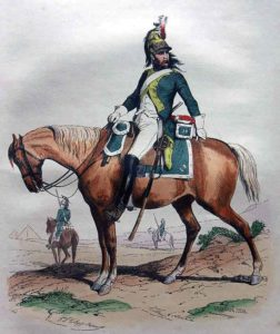 French Dragoon: Battle of Usagre on 25th May 1811 in the Peninsular War: picture by Adrien Pascal
