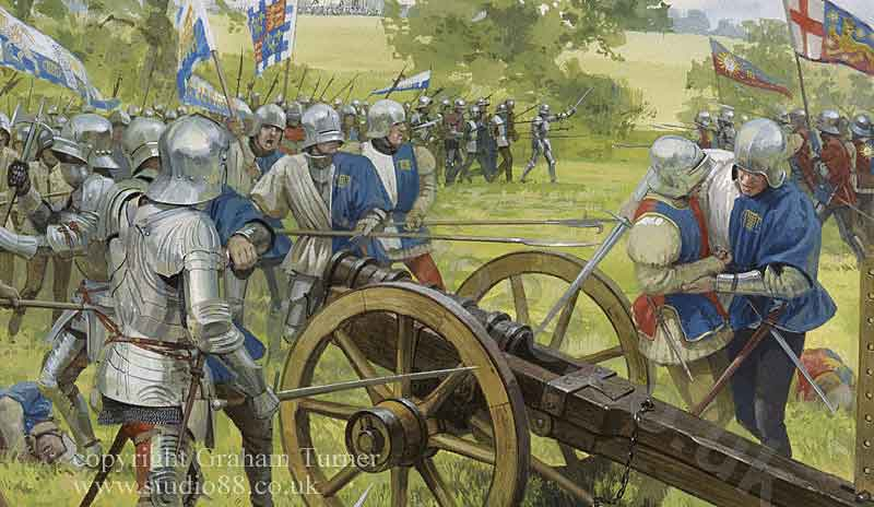 Battle of Tewkesbury on 4th May 1471 in the Wars of the Roses: picture by Graham Turner