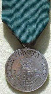 Copenhagen Medal awarded to a member of the 95th Rifles