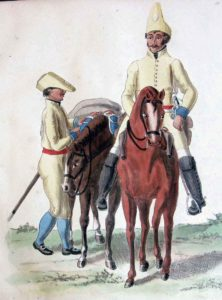 Spanish Cavalry in undress uniforms: Battle of Arroyo Molinos on 28th October 1811 in the Peninsular War: picture by Suhl