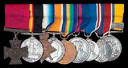 Medals of Captain Willis who won the Victoria Cross at W Beach Cape Helles Gallipoli on 25th April 1915: Victoria Cross, Queen's Sudan Medal (1896-98), 14-18 Star, British War Medal, Victory Medal, Delhi Durbar Medal, King George VI Coronation Medal, Queen Elizabeth II 1953 Coronation Medal, Khedive's Sudan Medal (1896-1908) with clasp 'Khartoum' in Arabic