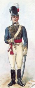 Officer of British 13th Light Dragoons: Battle of Campo Maior on 25th March 1811 in the Peninsular War