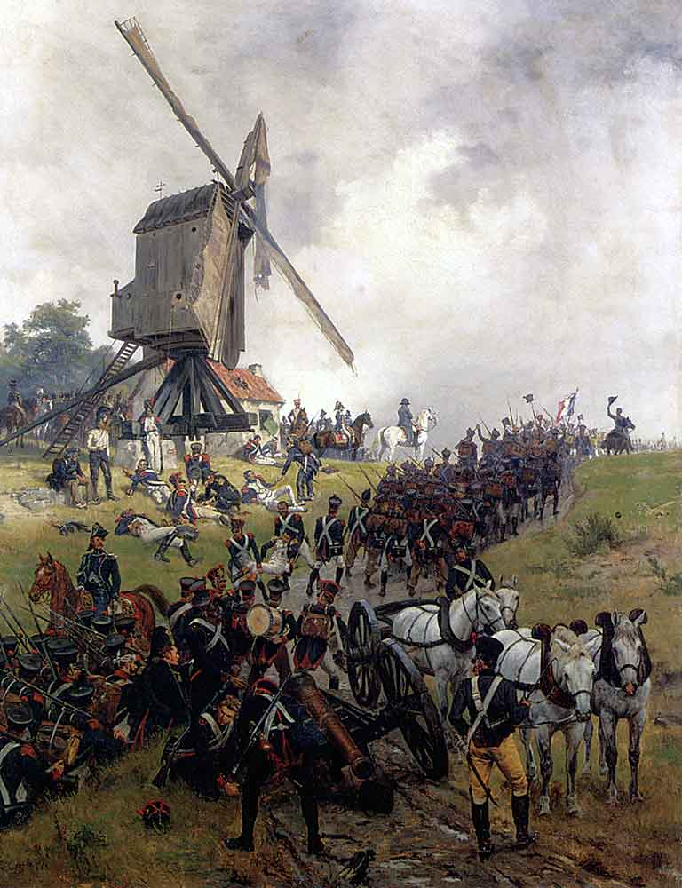 French troops at the Battle of Ligny on 16th June 1815: picture by Ernest Crofts