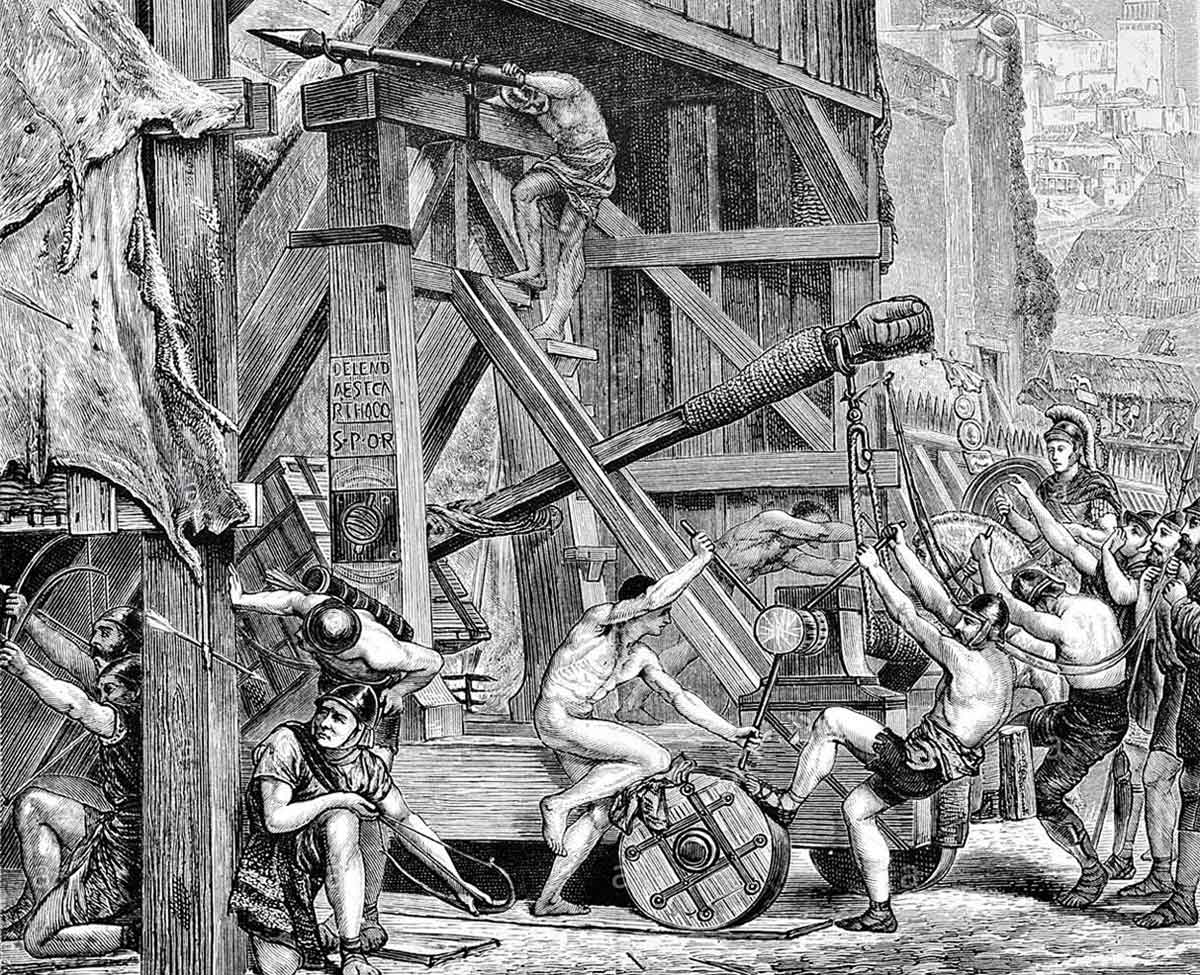 Roman ballista: Battle of Medway on 1st June 43 AD in the Roman Invasion of Britain