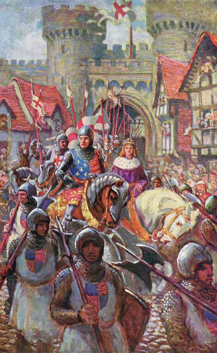 Richard, Duke of Gloucester, accompanies the Prince of Wales to London: Battle of Bosworth Field on 22nd August 1485 in the Wars of the Roses
