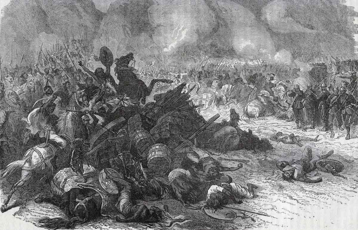 Battle on Arougie plateau: Battle of Magdala on 13th April 1868 in the Abyssinian War