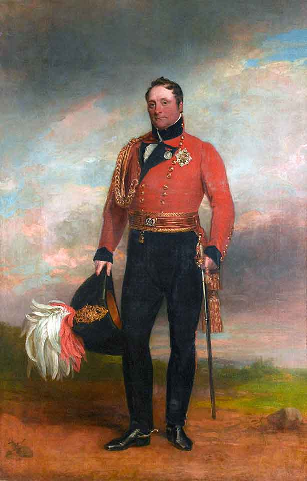 Rowland Hill, British commander at the Battle of Arroyo Molinos on 28th October 1811 in the Peninsular War