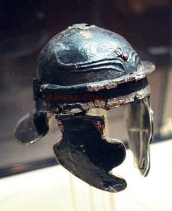 Roman Helmet: Battle of Medway on 1st June 43 AD in the Roman Invasion of Britain