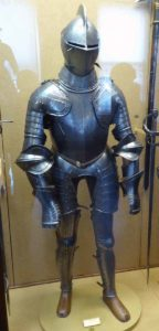 Suit of Armour in the Wallace Collection: First Battle of St Albans, fought on 22nd May 1455 in the Wars of the Roses