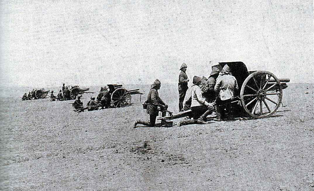 Turkish field guns in the desert: Gallipoli Part III, ANZAC landing on 25th April 1915 in the First World War