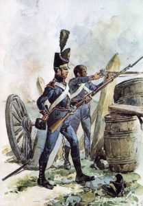 Portuguese artillery soldiers: Battle of El Bodon on 25th September 1811 in the Peninsular War