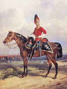 3rd Dragoon Guards, officer in Home Service uniform: Battle of Magdala on 13th April 1868 in the Abyssinian War