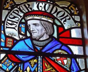 Jasper Tudor, Lancastrian commander at the Battle of Mortimer's Cross on 3rd February 1461 in the Wars of the Roses