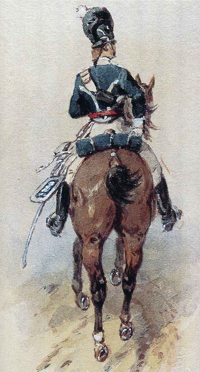 British Light Dragoon: Battle of Campo Maior on 25th March 1811 in the Peninsular War: picture by Orlando Norie