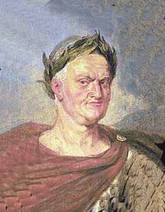Vespasian as Emperor of Rome by Rubens: Battle of Medway on 1st June 43 AD in the Roman Invasion of Britain