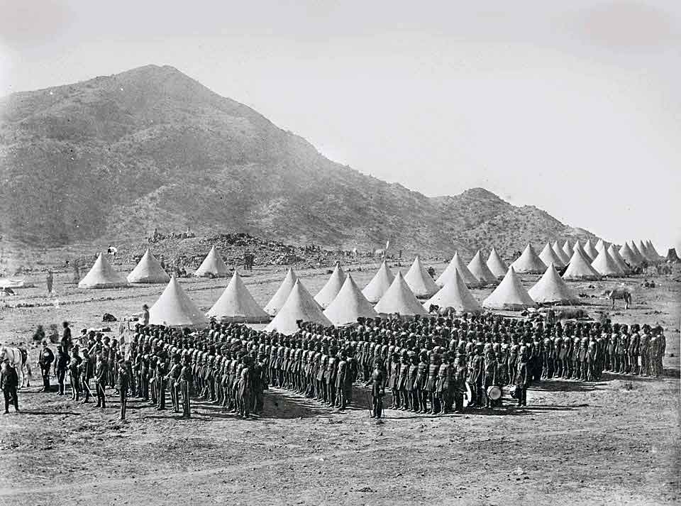 27th Bombay Native Light Infantry in Abyssinia: Battle of Magdala on 13th April 1868 in the Abyssinian War