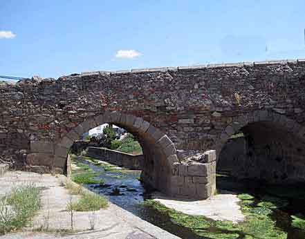 Roman bridge at Usagre: Battle of Usagre on 25th May 1811 in the Peninsular War