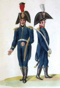 French Infantry Officers: Battle of Sabugal on 3rd April 1811 in the Peninsular War: picture by Suhl