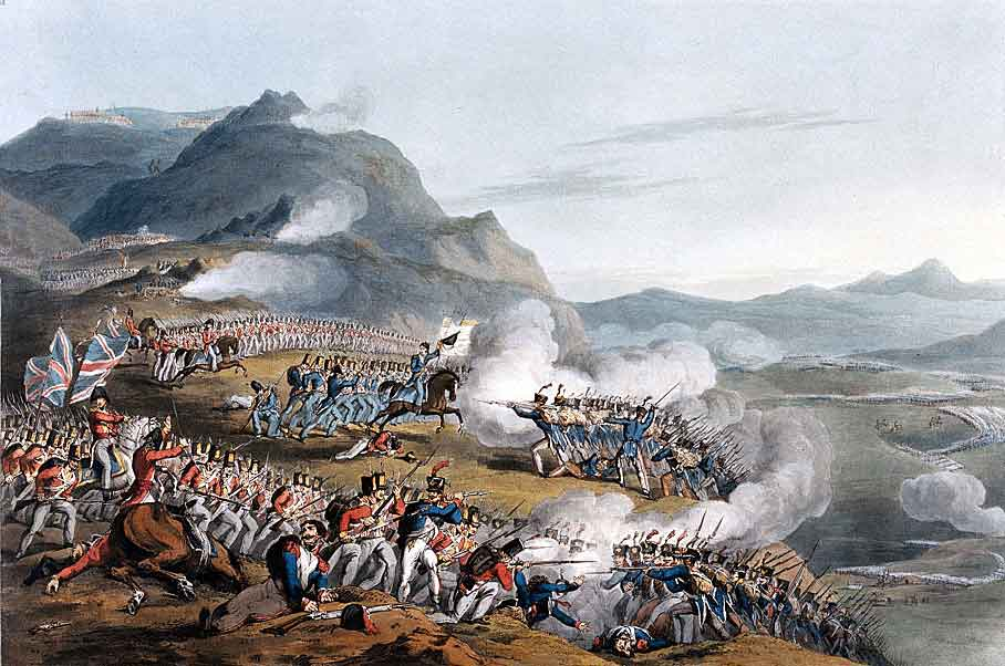 Marshal Reynier's attack at the Battle of Busaco on 27th September 1810 in the Peninsular War