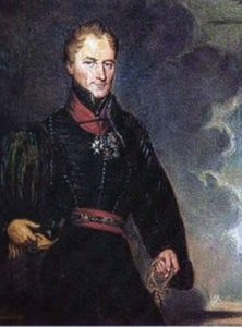 Colonel Sydney Beckwith of the 95th Rifles, British commander at the Battle of Sabugal on 3rd April 1811 in the Peninsular War