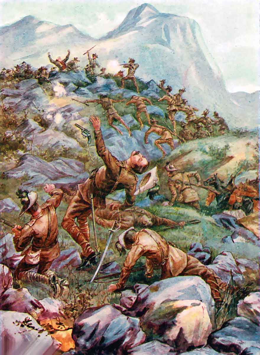 Death of Captain Montmorency at the Battle of Stormberg on 9th/10th December 1899 in the Boer War