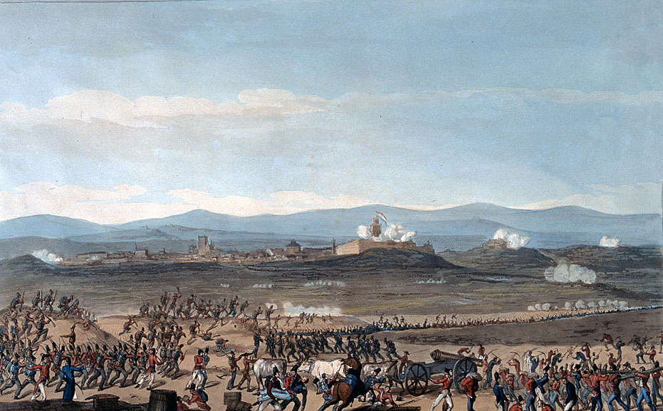 Badajoz during the unsuccessful British attack in June 1811