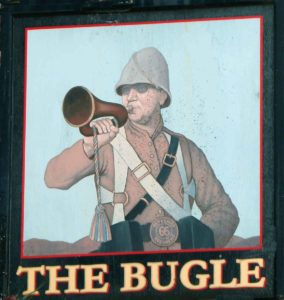 'Bugle Pub' in Central Reading commemorates the 66th Regiment at the Battle of Maiwand on 26th July 1880 and in Southern Afghanistan in the Second Afghan War