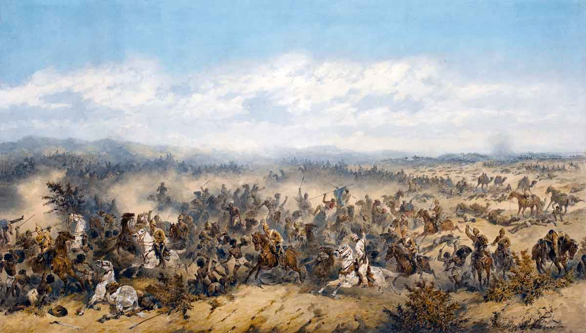 Charge of the 10th Hussars at the Battle of El Teb on 29th February 1884 in the Sudanese War