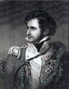 Brigadier General Robert Craufurd, mortally wounded during the Storming of Ciudad Rodrigo on 19th January 1812 in the Peninsular War