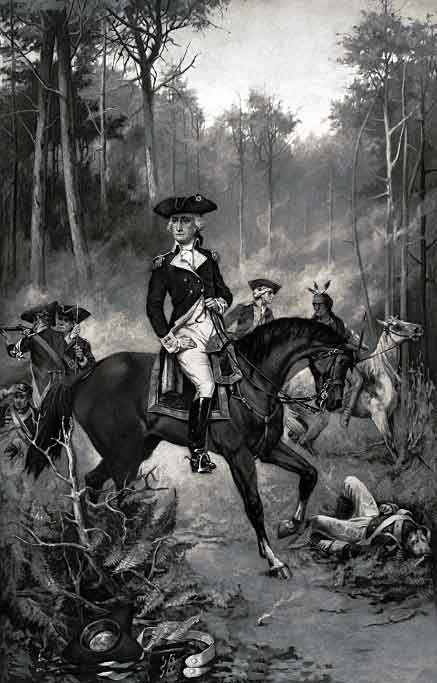 General George Washington at the Battle of Yorktown on 19th October 1781 in the American Revolutionary War