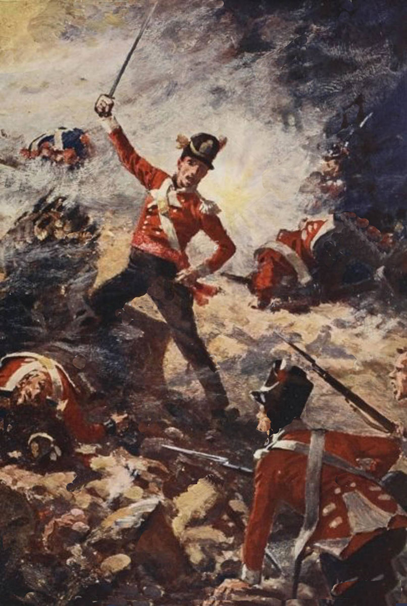 Forlorn Hope at the Storming of Badajoz on 6th April 1812 in the Peninsular War