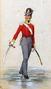 Officer of the 30th Regiment: Storming the San Vincente Bastion in the Storming of Badajoz on 6th April 1812 in the Peninsular War