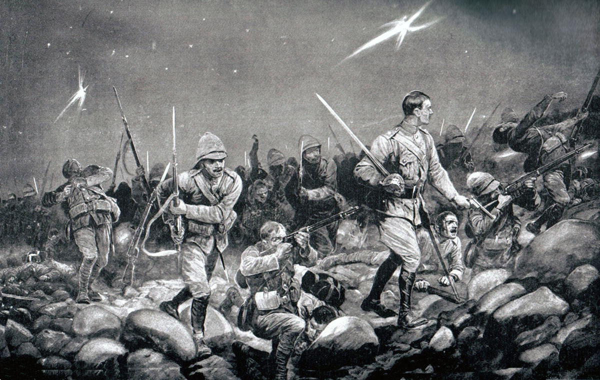 Night Sortie: Siege of Mafeking 14th October 1899 to 16th May 1900 in the Great Boer War: picture by Richard Caton Woodville