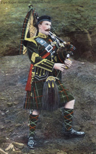 Pipe Major of the Seaforth Highlanders: Battle of Paardeberg on 27th February 1900 in the Great Boer War
