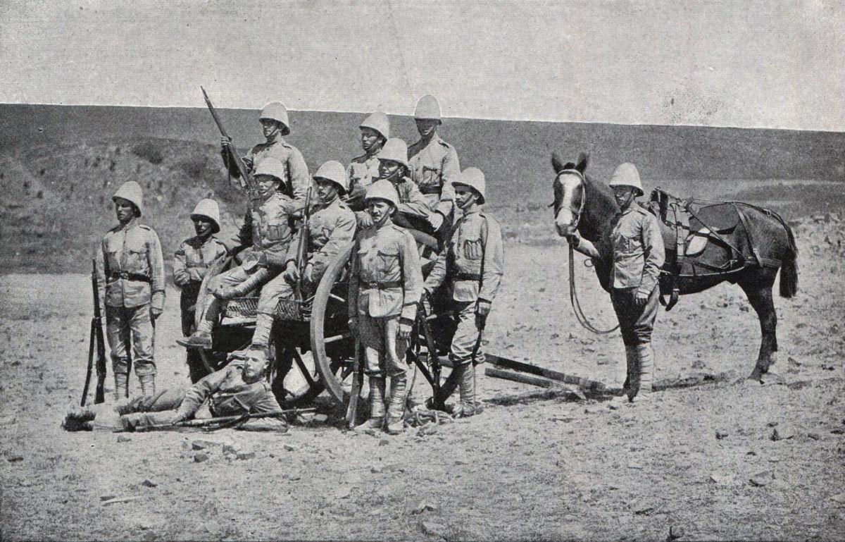 Royal Dublin Fusiliers Maxim Gun Team:Battle of Spion Kop on 24th January 1900 in the Boer War